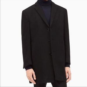 Calvin Klein Wool Blend Three Button Coat